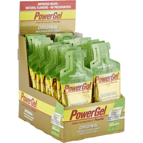 PowerBar PowerGel Original Box Green Apple mit Koffein 24 x 41g